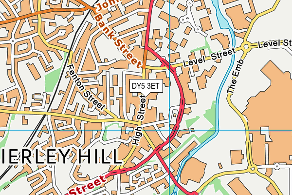 Brierley Hill Library map (DY5 3ET) - OS VectorMap District (Ordnance Survey)