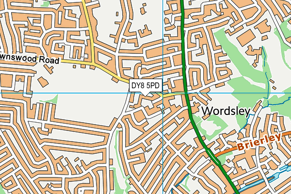 Wordsley Library map (DY8 5PD) - OS VectorMap District (Ordnance Survey)