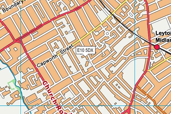 St Joseph's Catholic Junior School map (E10 5DX) - OS VectorMap District (Ordnance Survey)