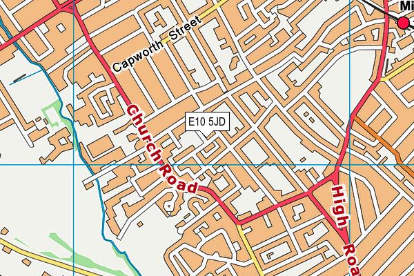 E10 5JD map - OS VectorMap District (Ordnance Survey)