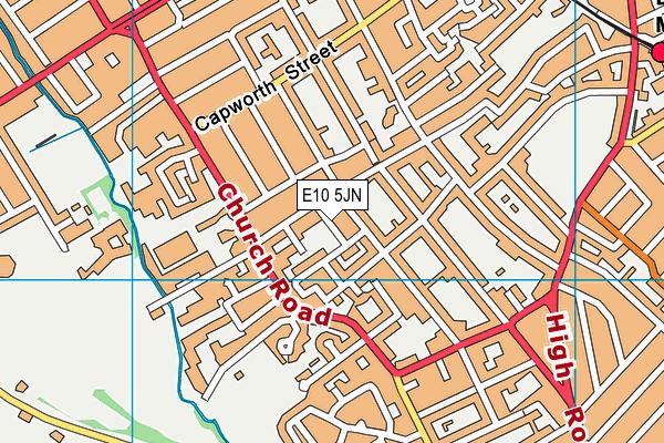 E10 5JN map - OS VectorMap District (Ordnance Survey)