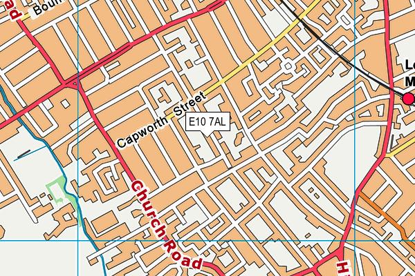 E10 7AL map - OS VectorMap District (Ordnance Survey)