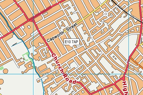 E10 7AP map - OS VectorMap District (Ordnance Survey)