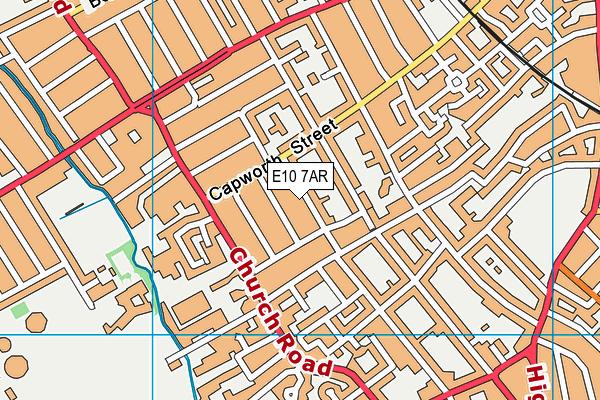 E10 7AR map - OS VectorMap District (Ordnance Survey)