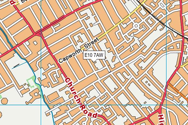E10 7AW map - OS VectorMap District (Ordnance Survey)