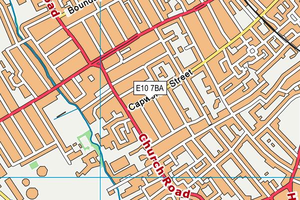 E10 7BA map - OS VectorMap District (Ordnance Survey)