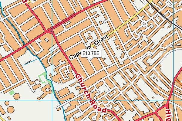 E10 7BE map - OS VectorMap District (Ordnance Survey)