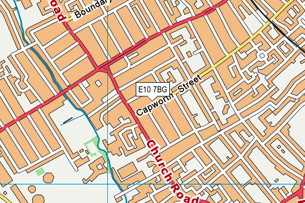 E10 7BG map - OS VectorMap District (Ordnance Survey)