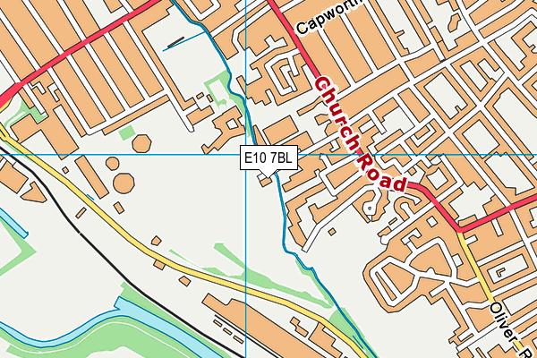 St Joseph's Catholic Infant School map (E10 7BL) - OS VectorMap District (Ordnance Survey)
