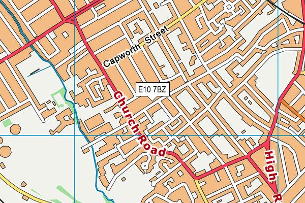 Riverley Primary School map (E10 7BZ) - OS VectorMap District (Ordnance Survey)