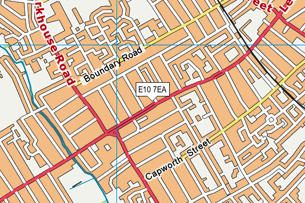 E10 7EA map - OS VectorMap District (Ordnance Survey)