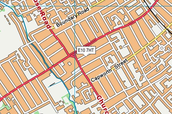 E10 7HT map - OS VectorMap District (Ordnance Survey)