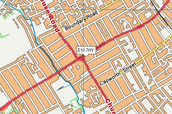 E10 7HY map - OS VectorMap District (Ordnance Survey)