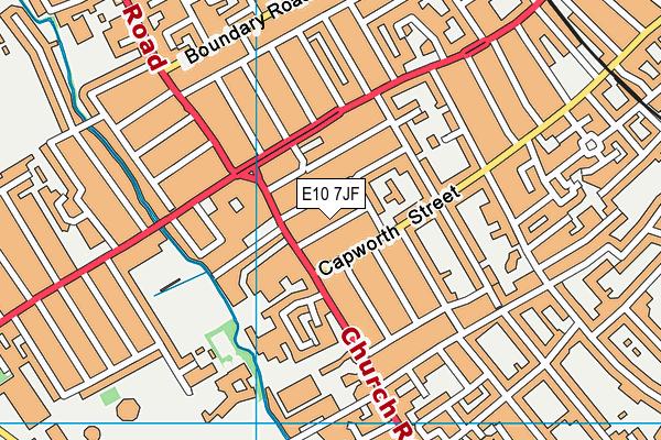 E10 7JF map - OS VectorMap District (Ordnance Survey)
