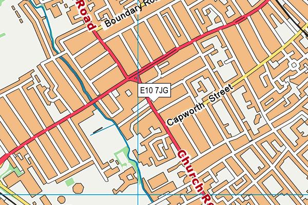 E10 7JG map - OS VectorMap District (Ordnance Survey)