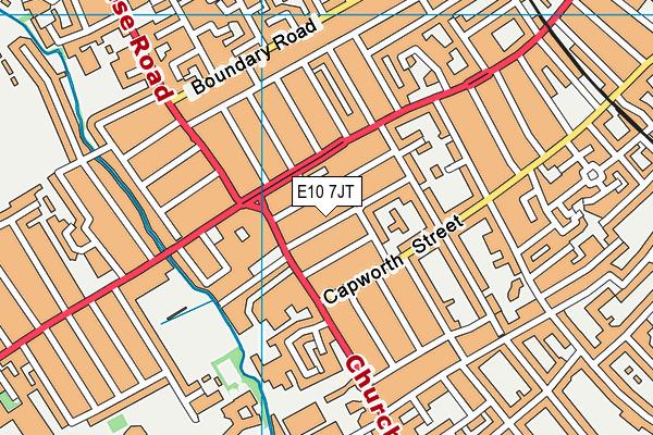 E10 7JT map - OS VectorMap District (Ordnance Survey)