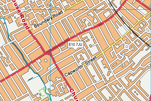E10 7JU map - OS VectorMap District (Ordnance Survey)