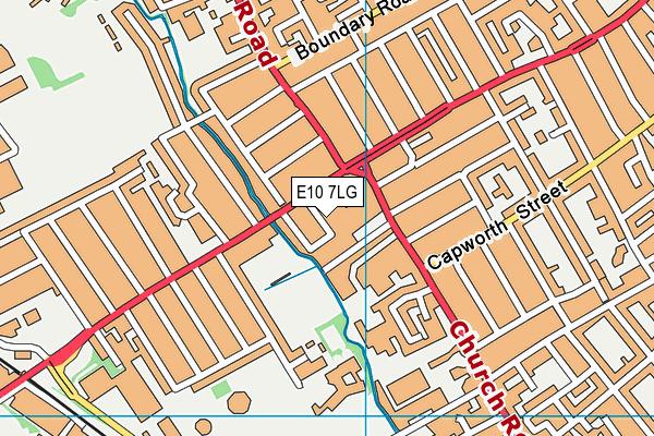 E10 7LG map - OS VectorMap District (Ordnance Survey)
