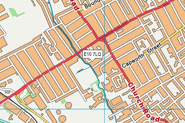 E10 7LQ map - OS VectorMap District (Ordnance Survey)