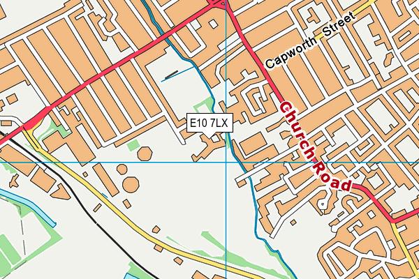 Lammas School and Sixth Form map (E10 7LX) - OS VectorMap District (Ordnance Survey)