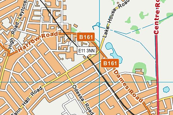 Buxton School map (E11 3NN) - OS VectorMap District (Ordnance Survey)