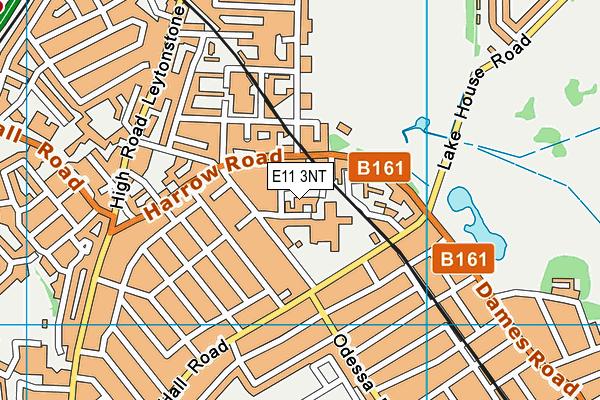 Buxton School (Closed) map (E11 3NT) - OS VectorMap District (Ordnance Survey)