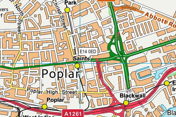 Poplar Baths Leisure Centre and Gym map (E14 0ED) - OS VectorMap District (Ordnance Survey)