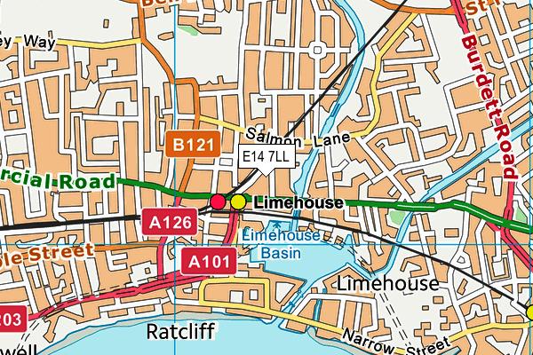 Stephen Hawking School map (E14 7LL) - OS VectorMap District (Ordnance Survey)