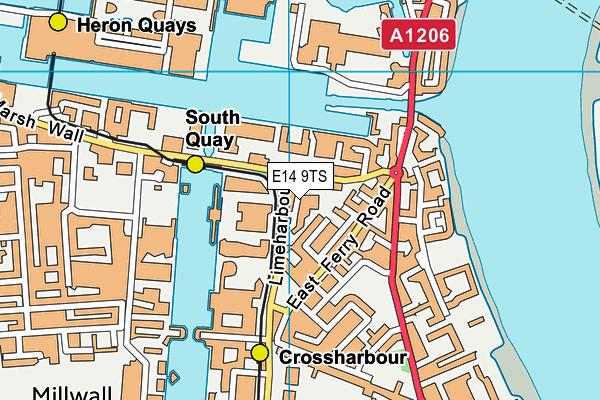 Ecole Yenzi map (E14 9TS) - OS VectorMap District (Ordnance Survey)