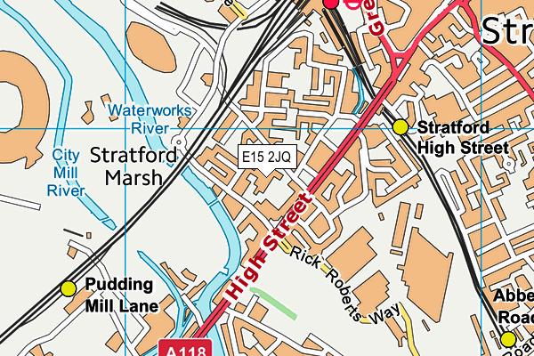 Carpenters Primary School map (E15 2JQ) - OS VectorMap District (Ordnance Survey)
