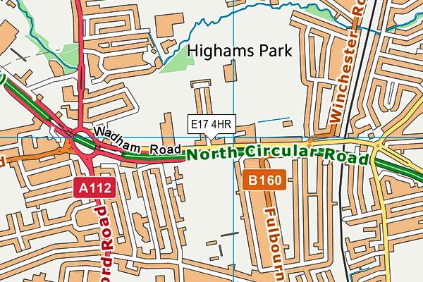 Peter May Sports Centre map (E17 4HR) - OS VectorMap District (Ordnance Survey)
