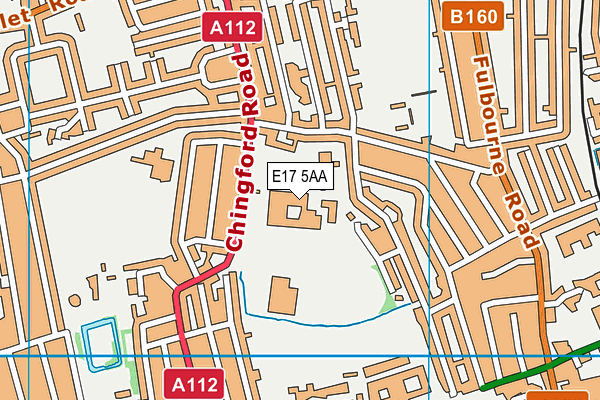Waltham Forest Feel Good Centre map (E17 5AA) - OS VectorMap District (Ordnance Survey)