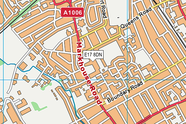 Kelmscott School map (E17 8DN) - OS VectorMap District (Ordnance Survey)