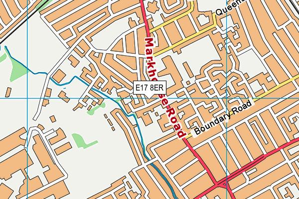 St Saviour's Church of England Primary School map (E17 8ER) - OS VectorMap District (Ordnance Survey)