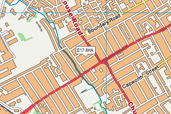 E17 8HA map - OS VectorMap District (Ordnance Survey)