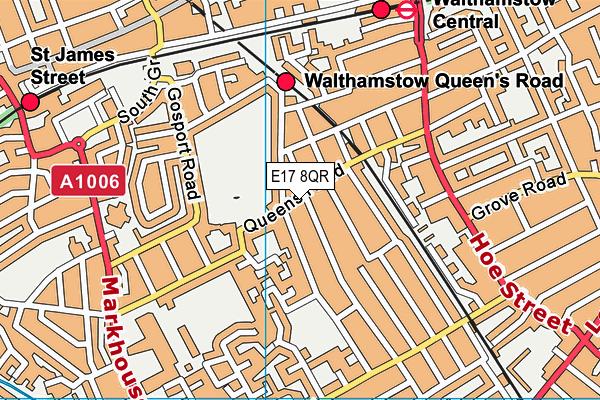 Edinburgh Primary School map (E17 8QR) - OS VectorMap District (Ordnance Survey)