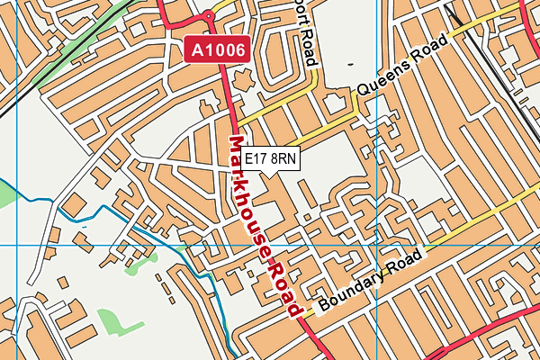 Walthamstow Leisure Centre map (E17 8RN) - OS VectorMap District (Ordnance Survey)