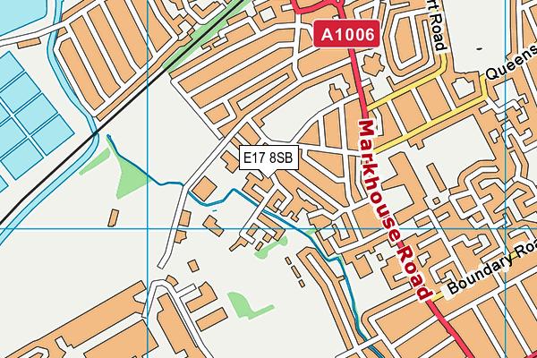 Barn Croft Primary School map (E17 8SB) - OS VectorMap District (Ordnance Survey)