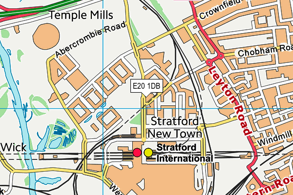 Better Gym East Village, Stratford map (E20 1DB) - OS VectorMap District (Ordnance Survey)
