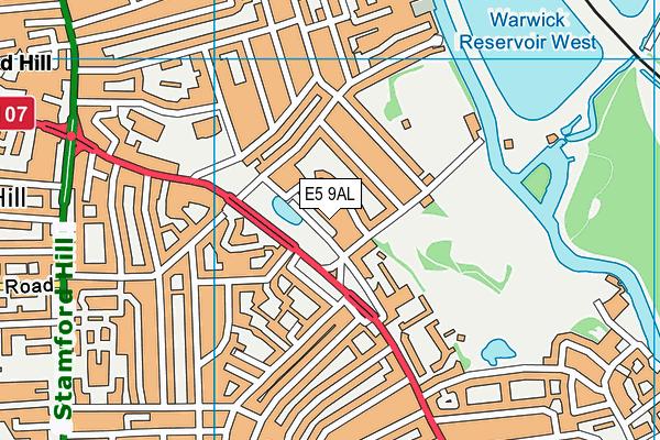 Ohr Emes map (E5 9AL) - OS VectorMap District (Ordnance Survey)