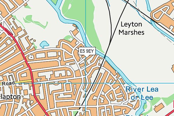 Harrington Hill Primary School map (E5 9EY) - OS VectorMap District (Ordnance Survey)