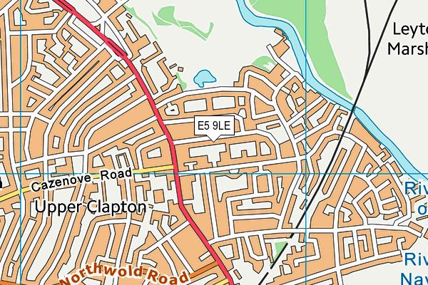 Talmud Torah London map (E5 9LE) - OS VectorMap District (Ordnance Survey)