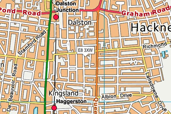Queensbridge Sports and Community Centre map (E8 3XW) - OS VectorMap District (Ordnance Survey)