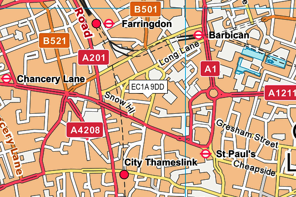 EC1A 9DD map - OS VectorMap District (Ordnance Survey)
