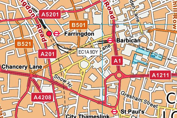 EC1A 9DY map - OS VectorMap District (Ordnance Survey)