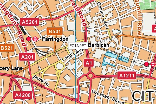 EC1A 9ET map - OS VectorMap District (Ordnance Survey)
