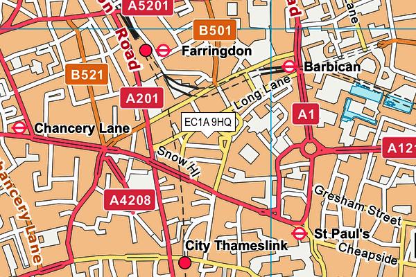 EC1A 9HQ map - OS VectorMap District (Ordnance Survey)