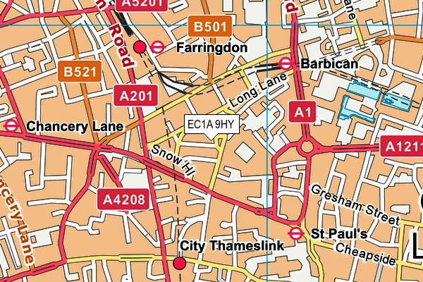 EC1A 9HY map - OS VectorMap District (Ordnance Survey)