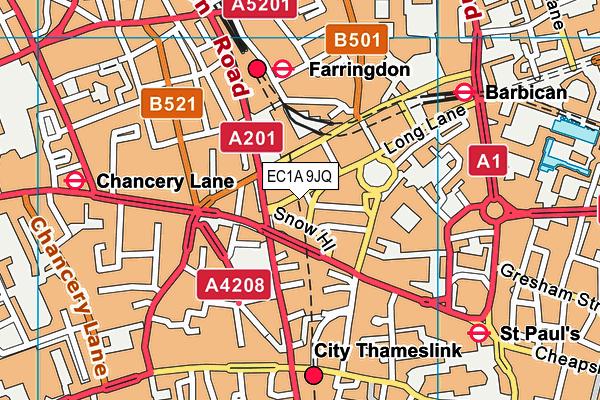 EC1A 9JQ map - OS VectorMap District (Ordnance Survey)