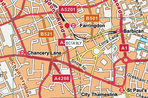 EC1A 9LY map - OS VectorMap District (Ordnance Survey)